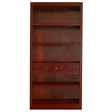 "Midas Five Shelf Bookcase with Drawer - 72""H, 8802177"