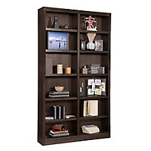 "Twelve Shelf Double Bookcase - 84""H, CIW-MI4884"