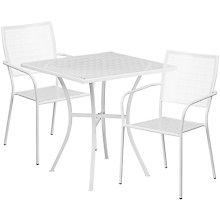 """28"""" White Table w/ 2 Seats, 8811910"""