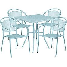 """28"""" White Table w/ 4 Seats, 8811913"""