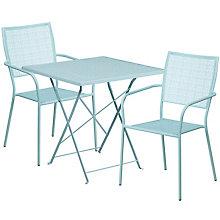"""28"""" White Table w/ 2 Seats, 8811914"""