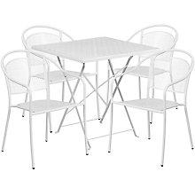 """28"""" White Table w/ 4 Seats, 8811917"""