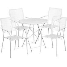 """28"""" White Table w/ 4 Seats, 8811919"""