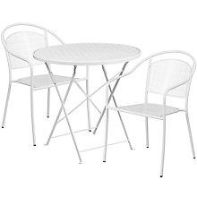 """28"""" White Table w/ 2 Seats, 8811920"""