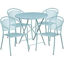 """28"""" White Table w/ 4 Seats, 8811921"""