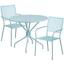 """35.25"""" White Table w/ 2 Seats, 8811922"""