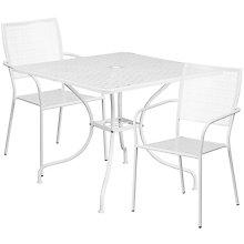 """35.5"""" White Table w/ 2 Seats, 8811926"""