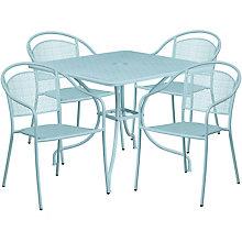 """35.5"""" White Table w/ 4 Seats, 8811929"""