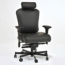 Faux Leather 24/7 Intensive Use Ergonomic Chair with Headrest, 8813786