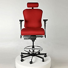 Fabric 24/7 Intensive Use Ergonomic Stool with Headrest, 8813788