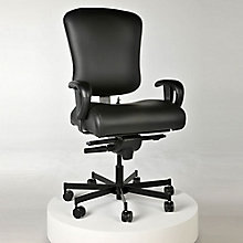 Genuine Leather 24/7 Intensive Use Ergonomic Chair, 8813793