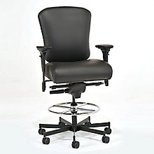 Genuine Leather 24/7 Intensive Use Ergonomic Stool, 8813796