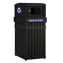 25 Gallon Waste Receptacle with Oval Opening, 8822763