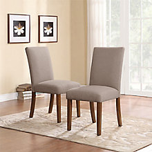 Linen Parsons Chairs (2 Pack), 8823554