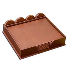 Conference Room Leather Accessory Set - Rustic Brown, 23-Piece, DAC-D3252