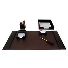 Six Piece Leather Desk Pad Set, DAC-10250