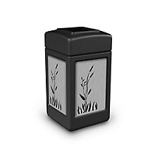 Waste Receptacle with Cattail Design - 42 Gallon, 8822744
