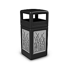 Dome Lid Waste Receptacle with Reed Design - 42 Gallon , 8822745