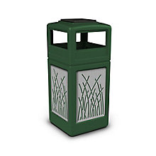 Ashtray Dome Lid Waste Receptacle with Reed Design - 42 Gallon, 8822749