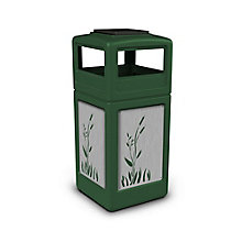 Ashtray Dome Lid Waste Receptacle with Cattail Design - 42 Gallon, 8822752