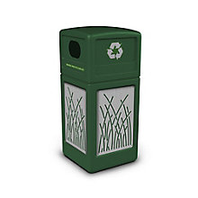 Decal Recycling Receptacle with Reed Design - 42 Gallon, 8822753