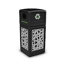 Decal Recycling Receptacle with Intermingle Design - 42 Gallon, 8822755