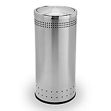 Round Flip Door Waste Receptacle - 15 Gallon, 8822861