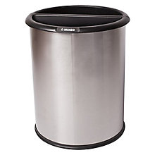 Dual Sided Recycling Receptacle - 3 Gallon, 8822874