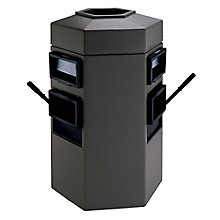 35 Gallon Waste Receptacle with 2 Windshield Wash Stations, 8822878