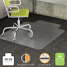 "Moderate Use Chair Mat with Lip 45""W x 53""D, 8822247"