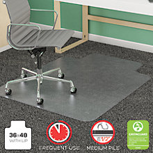 "Frequent Use Chair Mat with Lip 36""W x 48""D, 8822243"