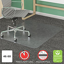 "Big and Tall Chair Mat 45""W x 53""D, 8822240"