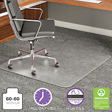 "Big and Tall Chair Mat with Lip 60""W x 60""D, 8822242"