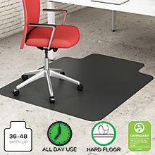 "Hard Floor Chair Mat with Lip 36""W x 48""D, 8822258"