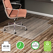 "Hard Floor Chair Mat with Lip 45""W x 53""D, 8822256"