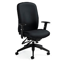 TruForm Fabric Medium Back Heavy Duty Ergonomic Task Chair, 8814312