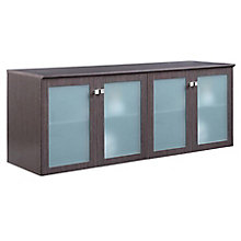 "Diamond 72""W x 29.5""H Low Wall Cabinet with Glass Doors, 8828356"