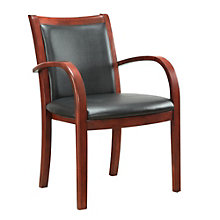 Bently Curved Arm Guest Chair with Faux Leather Seat, DMI-01267
