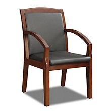 Bently Angled Arm Guest Chair in Faux Leather, DMI-01268