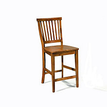 "Cottage Oak Bistro Bar Stool - 24-1/2""H Seat, HOT-5180-89"