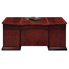 Sedona Cherry Executive Desk with Bow Front, DMI-7302-37