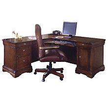 Rue de Lyon Computer L-Desk with Right or Left Return, 8826911