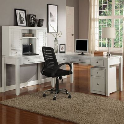 Save Office Space: Desks With Hutches