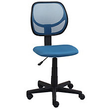 Merveilleux Essentials Armless Mesh Back Task Chair In Fabric, 8807011