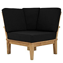 Outdoor Patio Teak Corner Sofa, 8805425