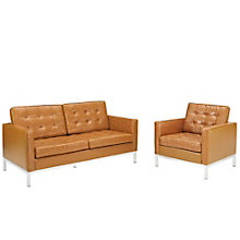 Loveseat Leather 2 PC Set, 8805521