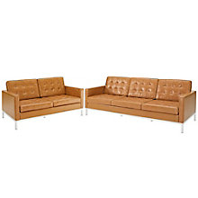 Loveseat and Sofa Leather 2 PC, 8805523