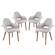 Fabric Armchair Set of 4, 8805552