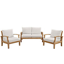 3 PC Outdoor Patio Teak Sofa S, 8805672