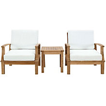 3 PC Outdoor Patio Teak Sofa S, 8805682